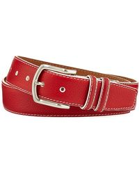 W. Kleinberg - Men's South Beach Pebbled Leather Belt - Lyst