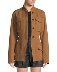 A.L.C. - Milo Belted Button-front Jacket - Lyst