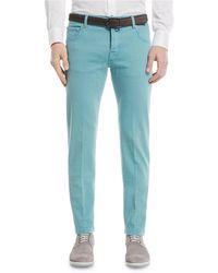 Kiton - Twill Slim-straight Jeans - Lyst