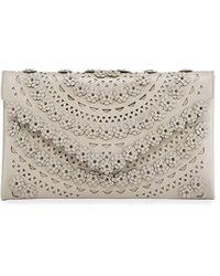 Alaïa - Oum Floral Laser-cut Clutch Bag - Lyst