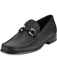 Ferragamo | Grandioso Grained Calf Leather Bit Loafer | Lyst