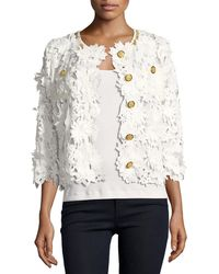 Michael Simon - Floral Crochet Jacket - Lyst