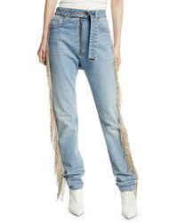 Helmut Lang - Straight-leg Fringe Jeans - Lyst