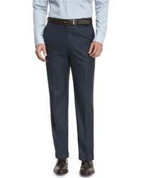 Brioni - Phi Flat-front Twill Trousers - Lyst