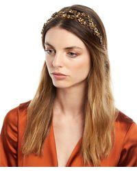 Jennifer Behr - Adele Floral Circlet Headband - Lyst