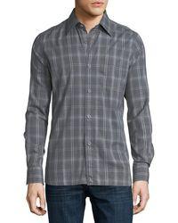 Tom Ford - Plaid Cotton Oxford Shirt - Lyst
