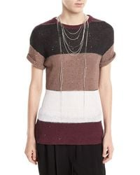 Brunello Cucinelli - Lariat Beaded Choker Necklace - Lyst