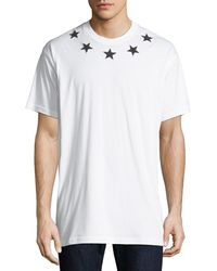Givenchy - Men's Star-patch Crewneck T-shirt - Lyst