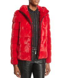 Gorski - Zip-front Horizontal Mink Fur Jacket W/ Hood - Lyst