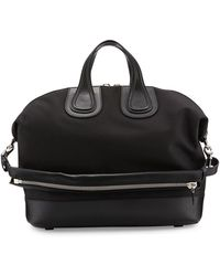 Givenchy - Nightingale Canvas & Leather Satchel Bag - Lyst