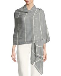 Bindya - Wool-silk Striped Stole Delicacy W/ Sequins - Lyst