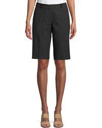 Lafayette 148 New York - Manhattan Techno-stretch Twill Slim Bermuda Shorts - Lyst