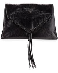 Dries Van Noten - Envelope Clutch Bag W/tassel - Lyst