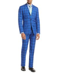 Kiton | Ombre Plaid Two-piece Suit | Lyst