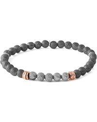 Tateossian - Men's Two-tone Mesh Bead Bracelet Size M - Lyst