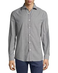 Ralph Lauren - Striped Twill Cotton Shirt - Lyst