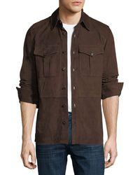 Ralph Lauren - Suede Shirt Jacket - Lyst