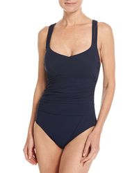 Gottex - Java Scoop-neck Macrame Back One-piece Swimsuit - Lyst