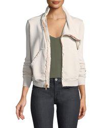Frank & Eileen - Asymmetric Zip-front Fleece Jacket - Lyst