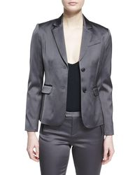 ATM - Stretch Satin Two-Button Blazer - Lyst