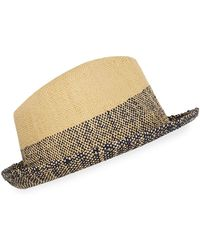 bbd1032d Paul Smith Ribbon Band Fedora Hat in Brown for Men - Lyst