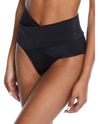 OYE Swimwear - Lucette Wrap-front High-waist Bikini Swim Bottoms - Lyst