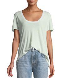 Unravel - Scoop-neck Short-sleeve Jersey Tee - Lyst