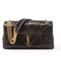 68065500dab7 Saint Laurent - Jamie Medium Diamond-quilted Chain Shoulder Bag - Bronze  Hardware - Lyst