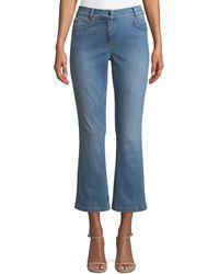 ESCADA - Flared-leg Crop Jeans - Lyst