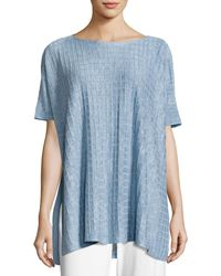 Eileen Fisher - Lightweight Linen Melange Top - Lyst