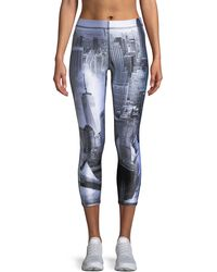 Terez - Concrete Jungle Capri Leggings - Lyst