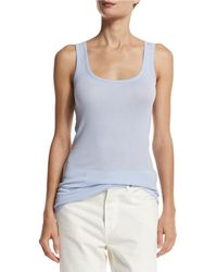 Vince - Ribbed Scoop-neck Tank Top - Lyst