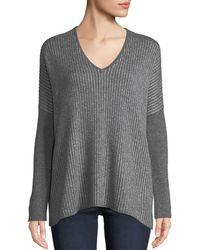 Neiman Marcus - Cashmere Metallic-stripe Dolman Sweater - Lyst