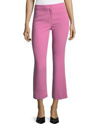 Theory - Admiral Crepe Cropped Kick Pants - Lyst