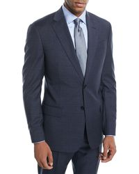 Emporio Armani - Plaid Two-piece Wool Suit - Lyst