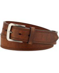 Shinola | Men's Navigator Double Stitch Leather Belt | Lyst
