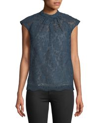 Erdem - Iona Cap-sleeve Lace Top - Lyst
