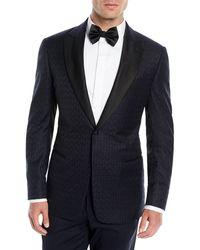 Emporio Armani - Men's Tonal Geometric Wool Dinner Jacket - Lyst