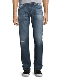 AG Jeans - Matchbox Slim-straight Jeans In 17 Years Psych - Lyst