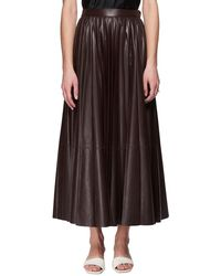 The Row - Vaileen A-line Long Lambskin Leather Skirt - Lyst