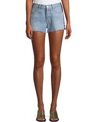 Levi's - 501 Side-stripe Frayed Cutoff Shorts - Lyst