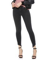 Joe's Jeans - The Icon Ankle Skinny-leg Jeans W/ Diagonal Hem - Lyst