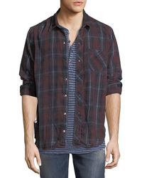 Hudson Jeans - Weston Plaid Distressed Shirt - Lyst