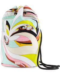 Emilio Pucci - Waterproof Parrot-print Terry Cloth Bucket Beach Bag - Lyst