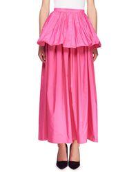 Stella McCartney - Noelle Peplum Full Skirt - Lyst