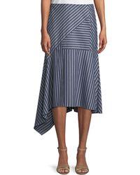 Lafayette 148 New York - Tori Imperial Stripes Skirt - Lyst