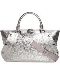 Akris - Aimee Small Metallic Hammered Leather Satchel Bag - Lyst