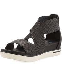 Eileen Fisher - Sport Woven Platform Sandals - Lyst