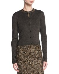 ESCADA - Long-sleeve Button-front Cropped Cardigan - Lyst