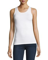 Neiman Marcus - Soft Touch Scoop-neck Tank - Lyst